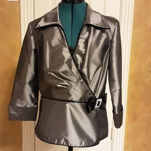 Cachet Silver Formal Jacket size 10